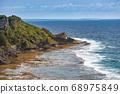 Beautiful coastline of Okinawa island in Japan 68975849