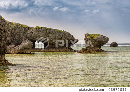 Beautiful coastline of Okinawa island in Japan 68975851