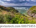 Beautiful coastline of Okinawa island in Japan 68975855