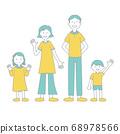 가족의 일러스트 색상 주 선 수 68978566