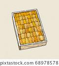 japanese green sea urchin roe, ezo bafun uni, 68978578