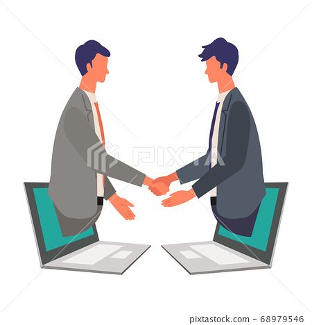 Image illustration of online business talk 68979546