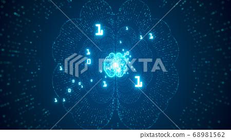 Technology Artificial intelligence (AI) brain 68981562