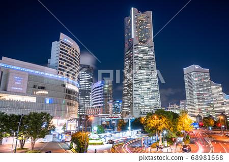 <神奈川縣>橫濱港未來夜景,櫻木町車站前 68981668