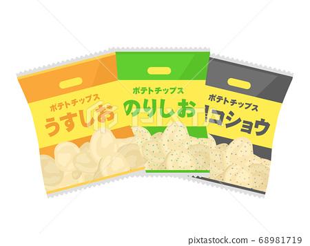 薯片的插圖 68981719