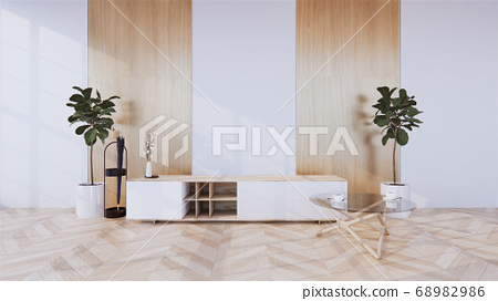 cabinet in modern room and white wall on woon 68982986