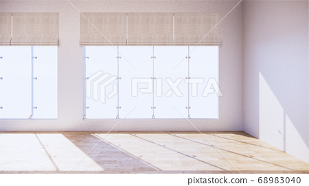 large room, wide open Clean white wall and wood 68983040