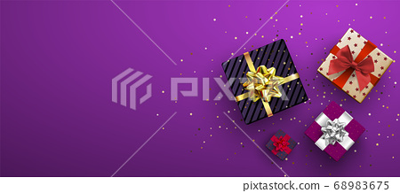 Vector festive illustration. Top view. Holiday 68983675