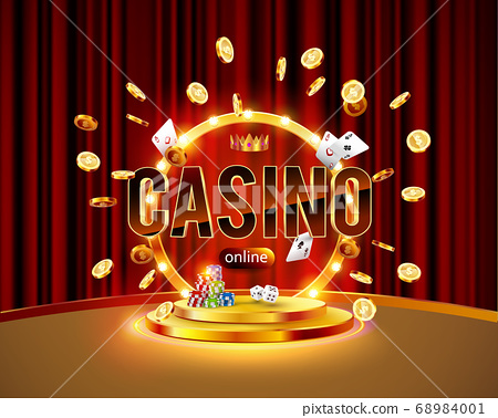 The word Casino, surrounded by a luminous frame 68984001
