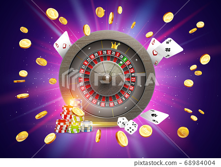 Realistic casino gambling roulette 68984004
