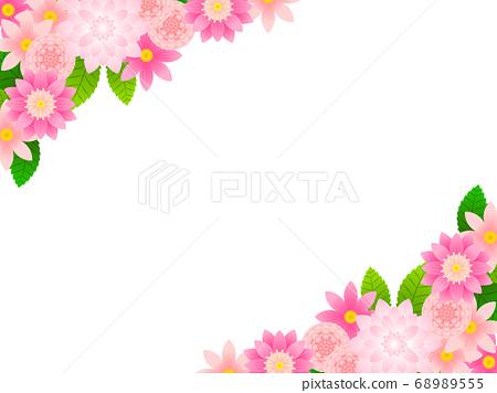 핑크 달리아의 일러스트 배경 68989555