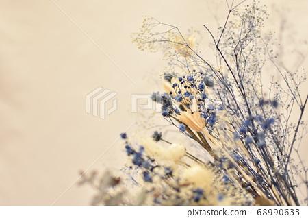 Blue dry flower 68990633