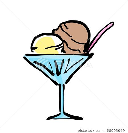 多彩冰淇淋的插圖 68993049