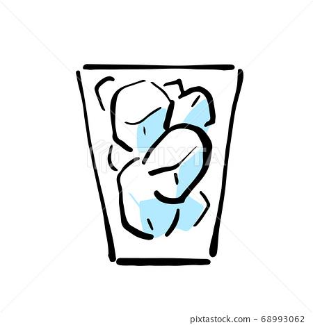 Ice rock illustration 68993062