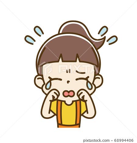 Crying girl child 68994406