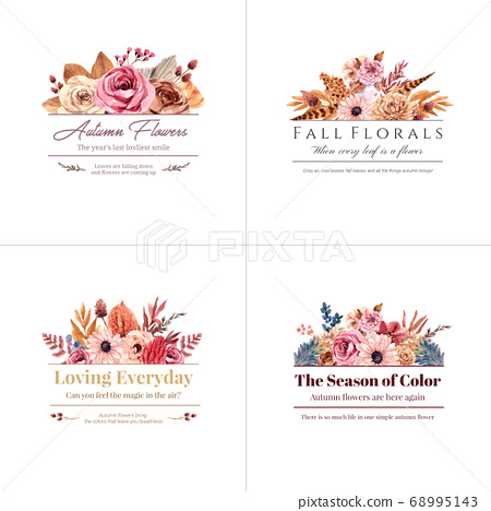 Logo design with autumn flower concept for brand 68995143