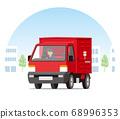 輕型卡車,郵政服務,投遞,在城市中運行的郵局的郵件收集 68996353