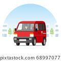 郵局輕型貨車,一個盒子,送貨車,玉賓,市內送貨,運輸 68997077
