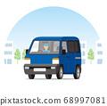 輕型貨車,一個箱子,運輸,運送,在城市中運行的運輸 68997081