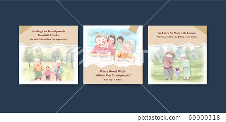 Ads template with national grandparents day 69000318
