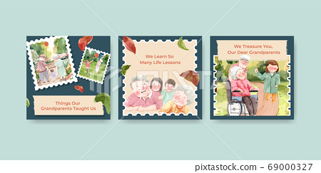 Ads template with national grandparents day 69000327
