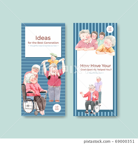 Flyer template with national grandparents day 69000351