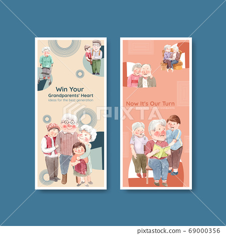 Flyer template with national grandparents day 69000356