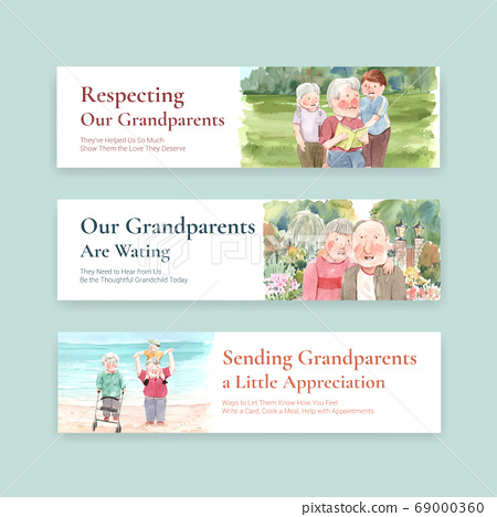 Banner template with national grandparents day 69000360