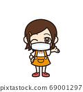 女孩介紹面具 69001297
