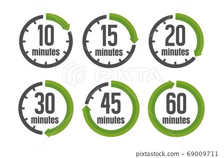 분 / 시간 타이머 스톱워치 아이콘 세트 (10 분 · 30 분 etc.) 69009711