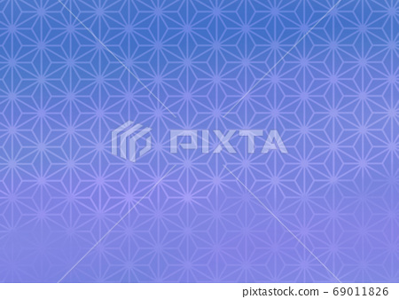 Blue japanese pattern background illustration 69011826