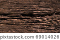 Close up of old wood texture, wooden vintage style, Decayed wood surface background. 69014026