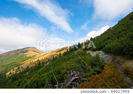 peak of the mountain strymba. carpathian landscape in autumn. pa 69027909