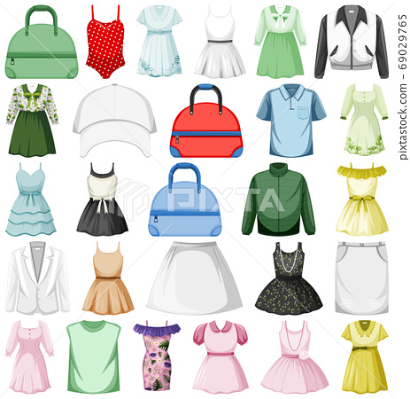 Set of fashion outfits 69029765