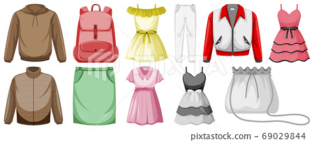 Set of costume objects 69029844