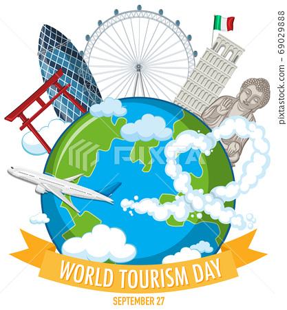 World tourism day symbol 69029888