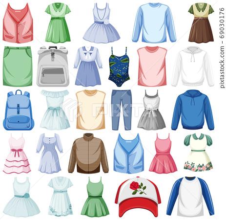 Set of fashion outfits 69030176
