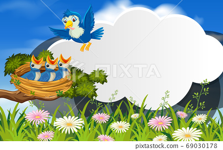 Bird in nature banner template 69030178