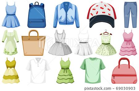 Set of fashion outfits 69030903