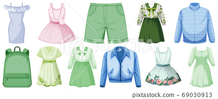 Set of costume objects 69030913