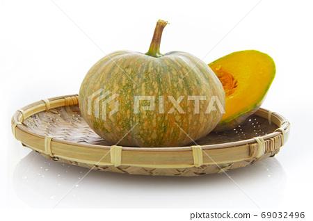 南瓜,竹箕,蔬菜,カボチャ、竹鍋、野菜、Pumpkins, bamboo pans 69032496
