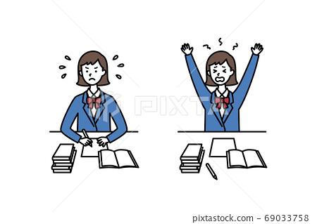 高中女生拼命學習 69033758