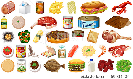 Set of food isolated 69034186