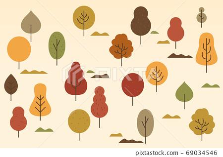 가을 나무 패턴 69034546
