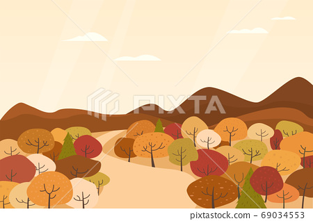 Autumn landscape vector illustration 69034553
