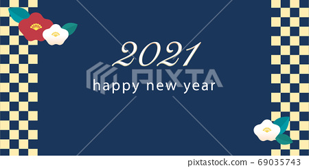 New Year Greeting 2021 English 69035743