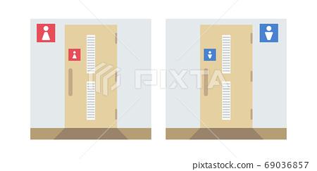 男女廁所門插圖(無線條) 69036857