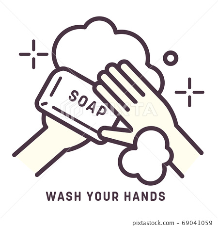 手洗圖標/矢量圖 69041059
