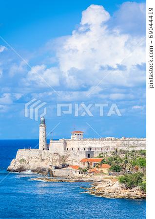 Havana, Cuba light house of La Cabana Fort 69044419
