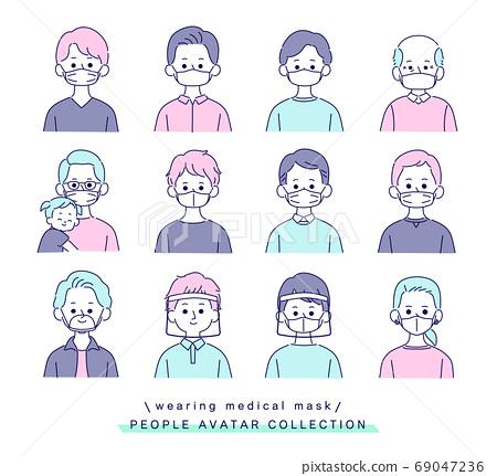 戴著面具的各種男人 69047236